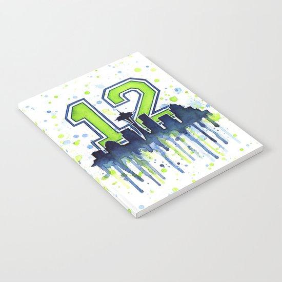 Hawks 12th Man Fan Art Notebook