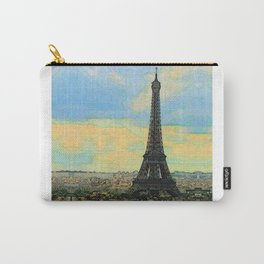 Watercolor Dream of Paris Carry-All Pouch