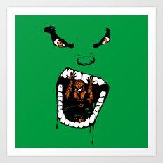 Hungry Hungry Hulk // Teal Art Print