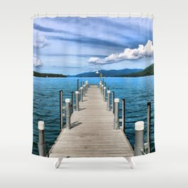 Stepping to the Sea Shower Curtain