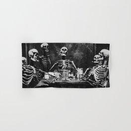 Six Skeletons Smoking Hand & Bath Towel
