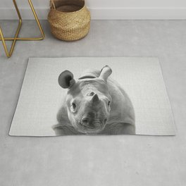 Baby Rhino - Black & White Rug
