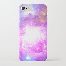 Colorful Pastel Pink Nebula Purple Galaxy Stars Slim Case iPhone 7