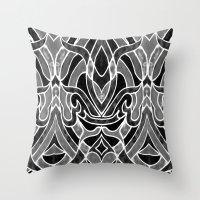 fleur de lis Throw Pillows featuring Fleur De Lis by ArtLovePassion