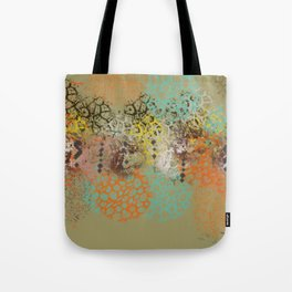 Decorative Abstract Orange, Yellow, Turquoise Tote Bag