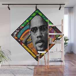 Malcolm Afro Print Wall Mural