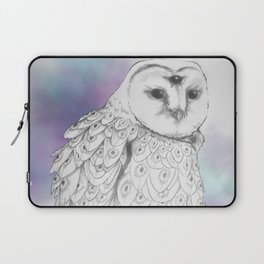 Owl with a third eye and crystal ball Laptop Sleeve