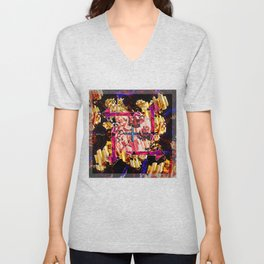 Tubular Abstract Unisex V-Neck