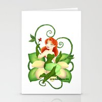 poison ivy Stationery Cards featuring Poison Ivy  by Katie Simpson a.k.a. Redhead-K