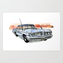 Old Pontiac Art Print
