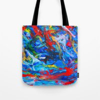 russia Tote Bags featuring Winter In Russia by Ming Myaskovsky