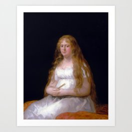 Goya Josefa de Castilla Portugal y van Asbrock de Garcini Art Print