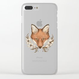 The Fox and Dogwoods Clear iPhone Case