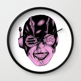 Pink Smile Wall Clock