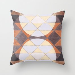 Triangles and Circles Pattern no.24 Throw Pillow