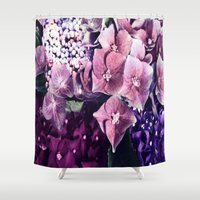 hydrangea Shower Curtains featuring Hydrangea  by Truly Juel