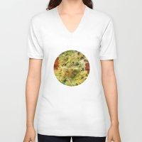 floral pattern V-neck T-shirts featuring Floral Pattern by Klara Acel