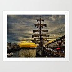Tall Ship BAE Guayas Art Print