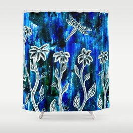 Hope Blooms Here Shower Curtain