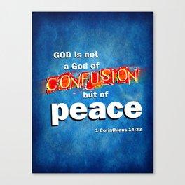 No Confusion Canvas Print