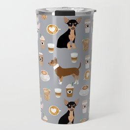 Chihuahua dog breed coffee pupuccino dog art chiwawas chihuahuas gifts Travel Mug