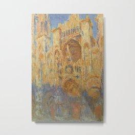 Monet, Rouen Cathedral, La Cathédrale de Rouen Metal Print