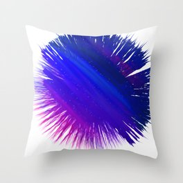 Shredded Night Sky Throw Pillow