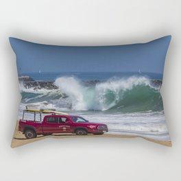Newport Beach Lifeguard Truck Rectangular Pillow