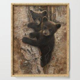 Black Bear Cubs - Curious Cubs Serving Tray