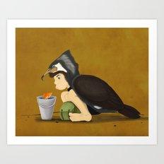 Little Black Cormorant Art Print