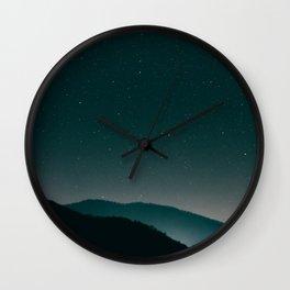Magic Mountains Wall Clock
