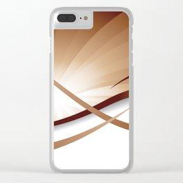 Ruhe - Brauntöne Clear iPhone Case