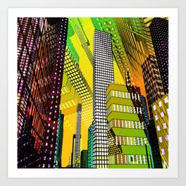 the colored city -4- Art Print