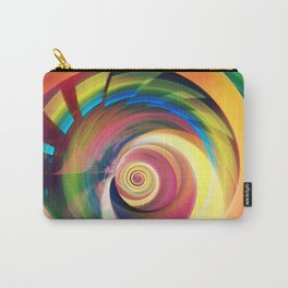 Spinning rainbow Carry-All Pouch