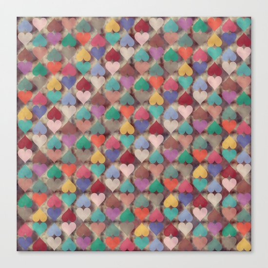 Colorful Love Pattern XI Canvas Print
