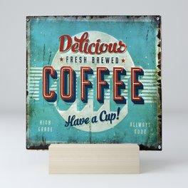 Vintage Style Coffee Sign Mini Art Print
