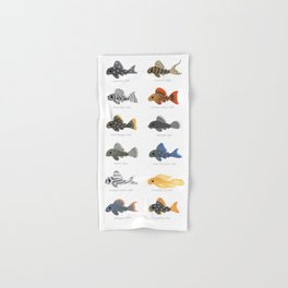 Pleco! - white Hand & Bath Towel