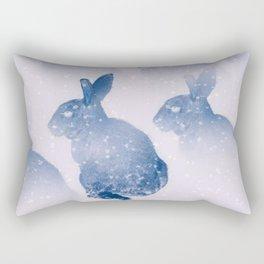 Snow bunny Rectangular Pillow