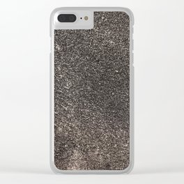 Sandpaper Texture Clear iPhone Case