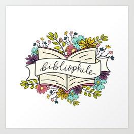 Floral Bibliophile V1 Art Print