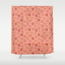 1960s freaky flowers Shower Curtain