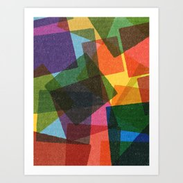 Square Miles. Art Print