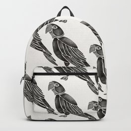 Perched Parrot – Black Palette Backpack
