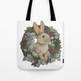 winter rabbit Tote Bag
