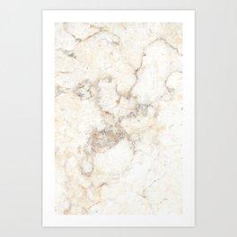 Marble Natural Stone Grey Veining Quartz Art Print