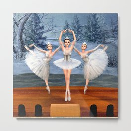 Land of Snow Ballerinas Metal Print