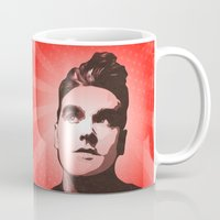 the smiths Mugs featuring The Smiths - This Charming Man - Pop Art by William Cuccio aka WCSmack