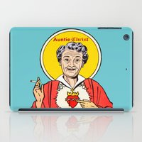 christ iPad Cases featuring Auntie-Christ by MilkGhost