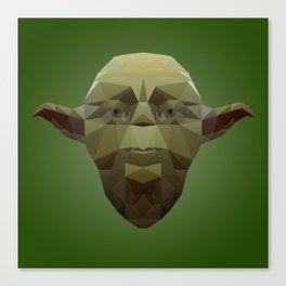 Yoda Low Poly Canvas Print