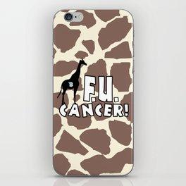 Team Bennett - FU CANCER! iPhone Skin